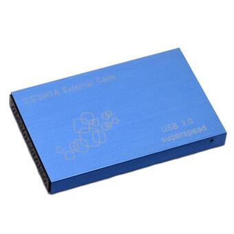 "GETEK USB 3.0 SATA 2.5"" inch HD HDD Hard Disk Drive Enclosure External Case Box EVM (Blue) - Intl"