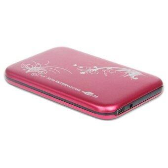 External Box 2.5 Sata For HDD.Notebook Usb 2.0 (Pink) กล่องใส่ HDD (ชมพู)