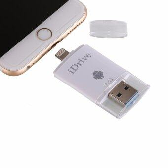 64GB iPhone Flash Drive USB 3.0 with Lightning Connector External Storage Memory Expansion for iPhone iPads iPod and Computers - White