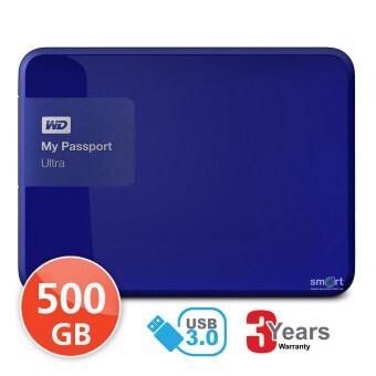 WD NEW My Passport Ultra 500GB (WDBWWM5000ABL) Portable Storage (Blue)