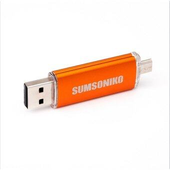 USB Flash Drive OTG USB memory stick Mobile USB flash pen driveMicro USB smart phone 1TB pendrive OTG u disk(Orange) - intl