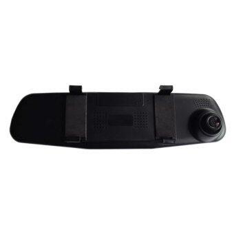 กล้องติดรถยนต์แบบกระจกมองหลังพร้อมกล้องติดท้ายรถ FHD1080P สีดำแถม microsd32GB+ตะขอแขวนในรถ+หมองรองคอ+กล่องเสียบช่องระหว่างเบาะในรถ