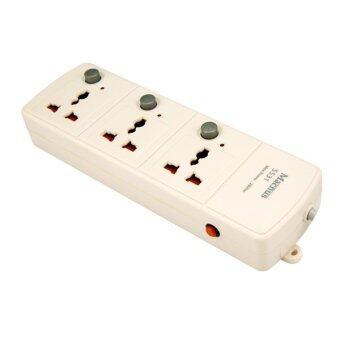 Macnus ปลั๊กต่อพ่วงไฟฟ้า 5 เมตร 3 ช่อง - สีขาว