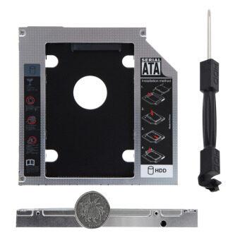 Universal Aluminum SATA 12.7mm SATA HDD Enclosure SSD Hard Drive Caddy Optical DVD Bay Adapter - Intl