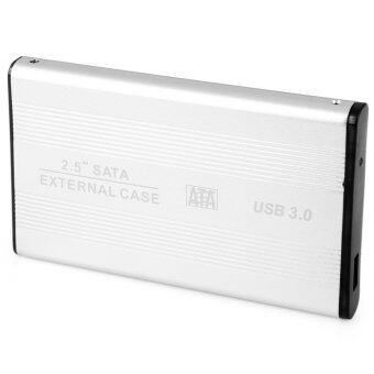 MiniCar CY U3-192 2.5 inch SATA 22pin 7 15 SSD to USB 3.0 External Hard Disk Enclosure with Cable Silver(Color:Silver) - intl