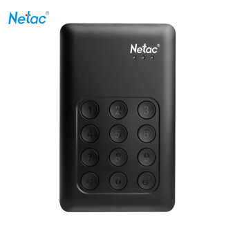 "Netac K390 1TB USB 3.0 2.5"" Portable HDD AES 256-bit Hardware Encryption Mobile External Hard Disk Drive Independent Keypad Lock for Desktop Laptop - intl"