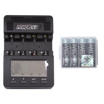 Powerex แท่นชาร์จ รุ่น MH-C9000 + Imedion 2400 mAh AA 4 ก้อน