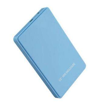 """ninror 2.5 Inch USB 2.0 Hard Drive Disk HDD External Enclosure Case For 9.5mm 7mm 2.5"""" SATA HDD And SSD, Tool-free (Blue)"""