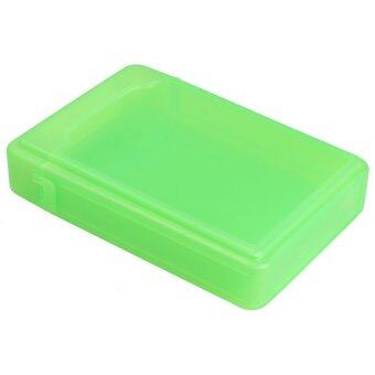 3.5Inch Full Case Protector Storage Box for Hard Drive IDE SATA Compact (สีเขียว)