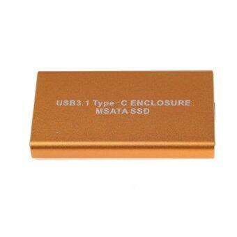 USB 3.1 Type-C MSATA SSD HDD Enclosure 10Gb/s Mini SATA Box - intl