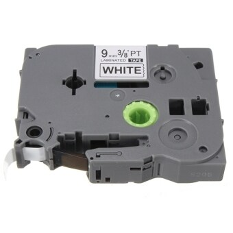 Black on White Label Tape For Brother P-Touch Label Maker 9mm TZ2 221 - Intl