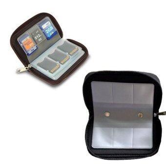 Portable 22 Slots Memory Card Holder (Black)