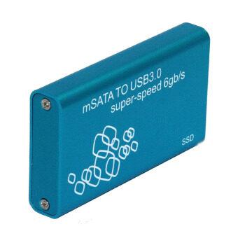 TS-MSATA01 USB 3.0 to mSATA Hard Disk SSD Case (Blue)