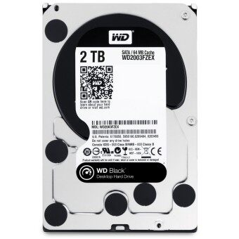 """Western Digital CAVIAR BLACK WD2003FZEX HDD 3.5"""" 2TB 5400RPM SATA 64MB"""
