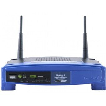 Linksys Router Wireless-G Broadband with Linux WRT54GL (Black/Blue)