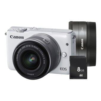 Canon EOS M10 เลนส์ EF-M15-45mm & EF-M22mm White + SD 8 GB