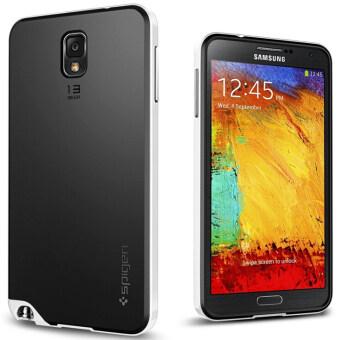 หมายเหตุ 3 กรณีปกปิดสำหรับ Samsung Galaxy note 3 N9000 กรณีโทรศัพท์มือถือสำหรับหมายเหตุ 3 III ย้อนกลับเชลล์ (ขาว)
