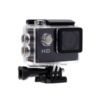 (Color:Black)Original Eken A7 Mini Action Camera Video 90 Degrees Wide Angle Sports Camera 2 Inch Screen 720p 30fps for GOPRO HERO STYLE CAM