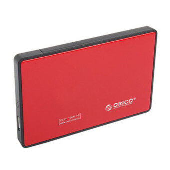 """Tool Free USB 3.0 External Hard Drive Enclosure for 2.5"""""""""""""""" SATA HDD and SSD Red"""