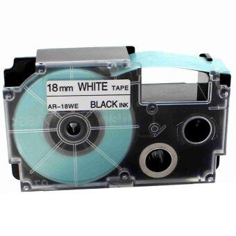 1pcs XR18WE Label Tape Compatible for Casio XR18WE Black on White (3/4inch 18mm) x 8m - Intl
