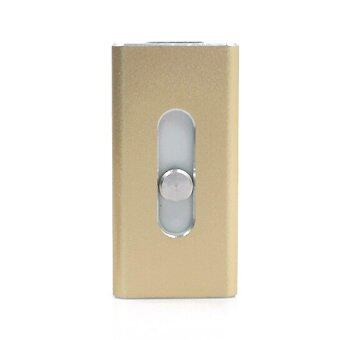 S and F Full Size Flash Drive 16gb Micro Usb Lightning/Otg Usb Flash Drive for Iphone 6 5 5s 5c Ipod Ipad Pendrive (Gold)