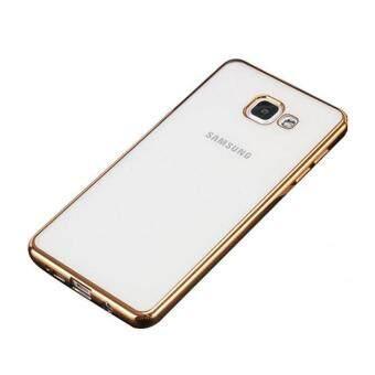 Case J7 Prime เคสใสขอบทอง เคสนิ่ม เคสซัมซุง Soft Case Samsung J7 Prime Gold TPU ใส ขอบ สีใสขอบทอง