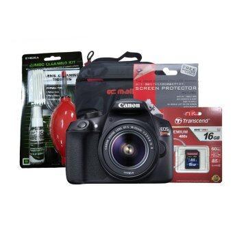 Canon EOS 1300D (EOS Rebel T6) kit lens 18-55 is II + Transcend SD 16GB CLASS10 +ฟิล์มกันรอย+ชุดทำความสะอาด+กระเป๋า