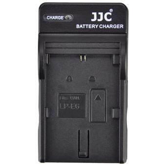 JJC แท่นชาร์จแบตเตอรี่กล้องแคนนอน EOS 60D,70D,80D,6D,7D,7D II,5D Mk II,Mk III,Mk IV,5DS,5DS R Battery Charger for Canon LP-E6,LP-E6N