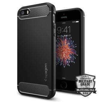 SPIGEN เคส Apple iPhone SE/5s/5 Case Rugged Armor (Black)