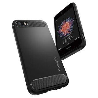 SPIGEN เคส Apple iPhone SE/5s/5 Case Rugged Armor (Black) (image 2)