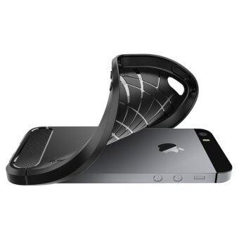 SPIGEN เคส Apple iPhone SE/5s/5 Case Rugged Armor (Black) (image 3)