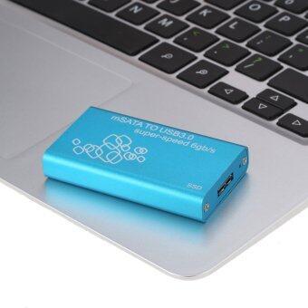 SSD mSATA to USB 3.0 Hard Drive Enclosure Adapter Case Support UASP Super Speed 6Gb/s - intl