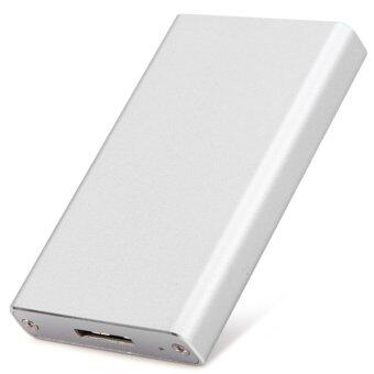 Aluminum Alloy mSATA SSD to USB 3.0 SSD Hard Disk Box External Case for 2.5 inch SATA - Intl