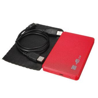 "2.5"" SATA HD HDD Hard Disk USB 2.0 Slim Box Case Esterno Adattatore Drive+Cavo Red - Intl"
