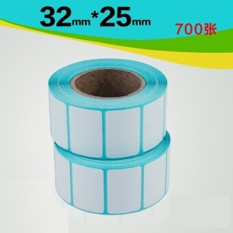 BYT 32*25mm 700pcs/Roll Barcode Price Label Thermal Sensitive Printer Self Adhesive Sticker