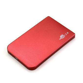 Magenta USB 2.5-Inch Hard Drive IDE HDD HD External Enclosure Case + Leather Pouch