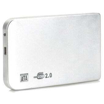 """2.5"""" SATA USB 2.0 HDD Enclosure with Leather Pouch (Silver)"""