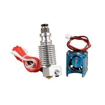 0.4mm E3D-V6 Metal 3D Printer Extrusion Head Nozzle With Fan Long distance 1.75mm - intl