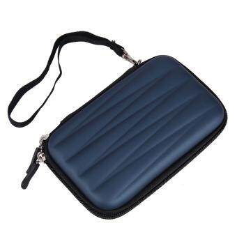Hard EVA PU Carrying Case Bag for 2.5 inch Portable HDD (Dark Blue) - intl
