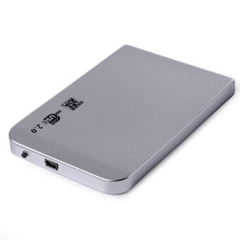 Vococal 6.35ซมกันกระแทก USB 2.0 เก็บนอก SATA เคสฮาร์ดดิสก์ไดรฟ์ของดิสก์ไดร์ฟอย่างกล่องหุ้มเงิน