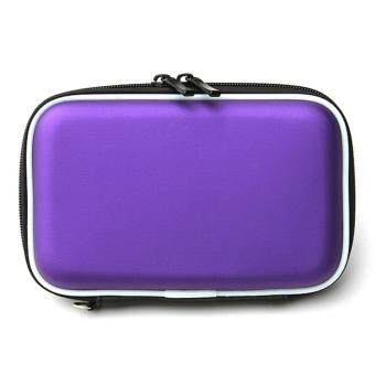 2.5 Inch Universal Hot-pressing External Hard Disk Drive USB Cable Case HDD Protector Hard Drive Cover Pouch Carry Bag For PC Tablet Purple - intl