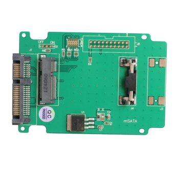 mSATA to SATA Adapter Solid State Hard Drive Adapter Card for Laptop - intl