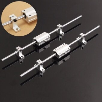 2Pcs 8mm 400mm Linear Shaft Rod Rail Kit W/ 2XSCS8LUU Bearing For 3D printer CNC - intl