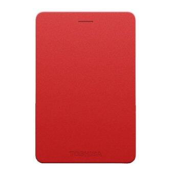 Toshiba Canvio Alumy 1TB External Hard Drive (Red)