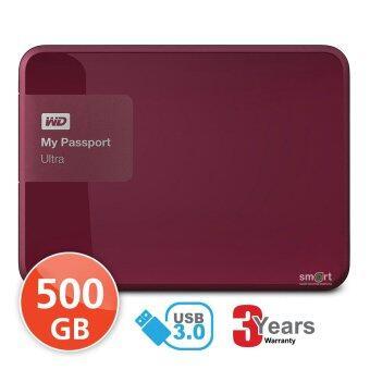 WD NEW My Passport Ultra 500GB (WDBWWM5000ABY) Portable Storage (Jelly Red)