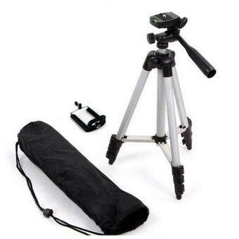 TF tripod ขาตั้งกล้อง 3 ขา รุ่น 3110 (Black) ฟรี หัวต่อสำหรับมือถือ