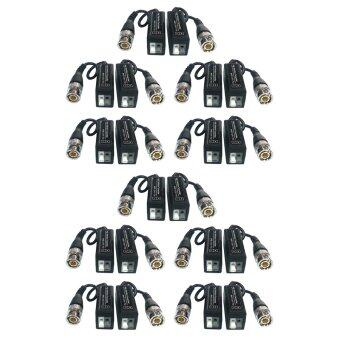BDEE Passive Balun (แพ็ค 10) บาลันสำหรับกล้องวงจรปิด AHD / HDCVI / HDTVI 300 ม. (BLACK)