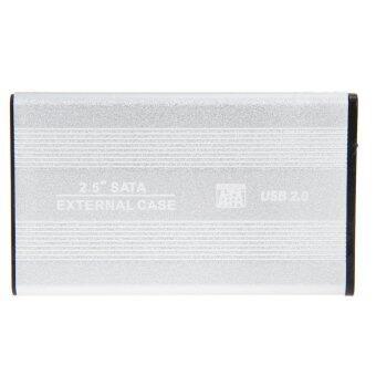 USB 2.0 6.35ซม SATA ล้อมรอบนอกเคสสำหรับฮาร์ดดิสก์พกพาเงิน
