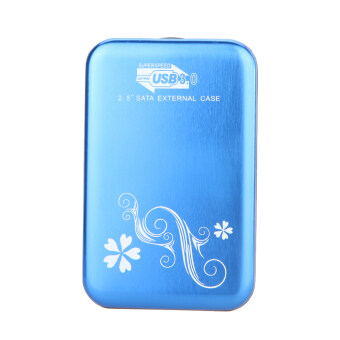 """2.5"""" USB 3.0 SATA External Hard Drive Box(Blue) - intl"""