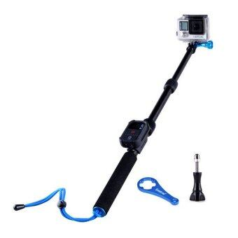 Smatree SmaPole T1 All-aluminum Gopro Handheld Pole integrated with a Tripod Mount (12″to 28″ Extension) + Smatree WiFi Remote Protective ClipCase for GoPro Hero 1, 2, 3, 3+,4 and SJ4000, SJ5000 Digital Camera